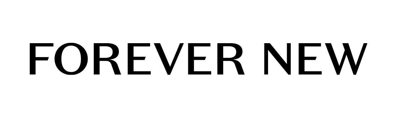black text on white ground. Forever New logo